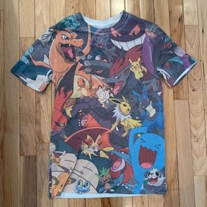 Pokemon Character Fitted T-Shirt, Small